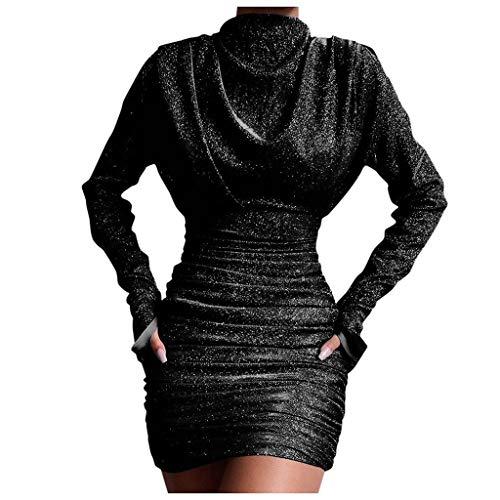 Posional Mujeres Vestido De Noche Sexy Club Cuello Alto Brillo Lentejuelas Empalme Noche Vestido Mini CóCtel Envoltura Vestidos Cortas Underskirt De CóCtel Minifalda Disfraz Ropa Dresses