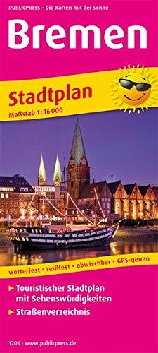 Bremen: Touristischer Stadtplan mit Sehenswürdigkeiten und Straßenverzeichnis. 1:16000 (Stadtplan / SP)