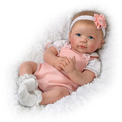The Ashton-Drake Galleries Ava TrueTouch Silicone with Hand-Rooted Hair - Award-Winning Lifelike, Realistic Newborn Baby Doll