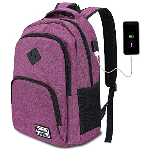 Mochila Portatil Mujer Escolar con USB Puerto para Negocio  35L  15.6 Pulgada  B6 púrpura1