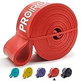 PROIRON Banda Elástica de Resistencia y Dominadas - Goma Elasticas Musculacion de Caucho Natural para Estiramiento, Levantamiento de Potencia, Fisioterapia, Yoga, Pilates (Rojo 31-54kg)