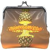 Verschleißfeste Geldbörse Golden Lemon Pineapple Banana Kiwi Strawberry Damen Geldbörse Clutch...