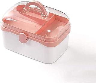 AINIYF Large Medicine Box Household Multi-Layer Medical Box Large-Capacity Medicine Box Storage Box Medicine Box (Color : Pink, Size : 23.8x15.8x15.4cm)