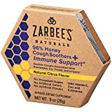 Zarbee's Naturals 96% Honey Cough Soothers + Immune Support*, Natural Citrus Flavor, 14 Count