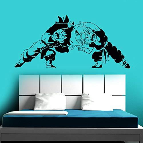 Goku Vinyl Wall Art Decal Dragon Ball Z Theme Wall Sticker Youth Children's Room Trunk Anime Wall Painting Gift 123x57cm