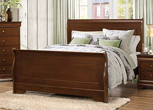Homelegance Abbeville Cal King Sleigh Bedframe, Cherry