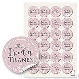 96 Aufkleber selbstklebende Etiketten FÜR FREUNDENTRÄNEN Sticker rosa rosé grau...