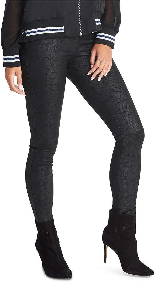 RACHEL Rachel Roy Womens Addison Coated Skinny Leggings Black S