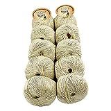 TRICOT CAFE' Oferta de ovillos de lana para bebé en paquete de 10 unidades, fabricado en Italia, 100% algodón/beige 2140