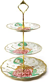 Ruxingu - Soporte de cerámica para tartas (porcelana), diseño redondo con accesorios nuevos, se puede comprar y utilizar en conjunción con el juego de té RUXINGGU