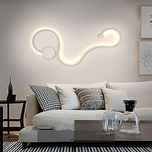 Aplique LED 20 W blanco curvo Snake lámpara moderna luz pared pared 4000 K 230 V