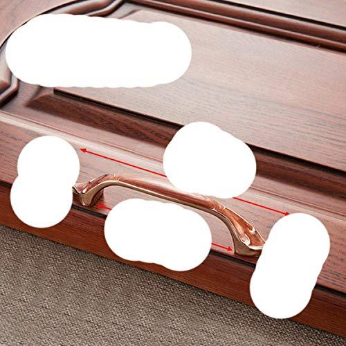 Schrankgriffe, Zinklegierung, für Schublade, Kleiderschrank, Tür, 6510-96, Rot / Weiß / Bernsteinfarben