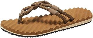 FORUU Men Summer Beach Sandals Flat Shoes Sandal Hombre Sewing Shoes Flip Flops Shoes