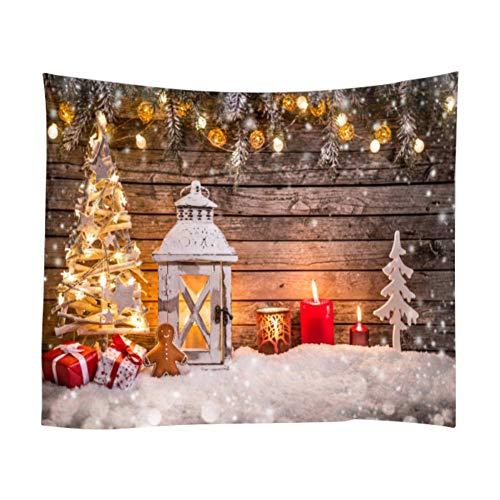 Etopfashion Tapiz de Navidad Fondo de Pared Paño Linterna Estrella Decoración del hogar Toalla de Playa para Sala...