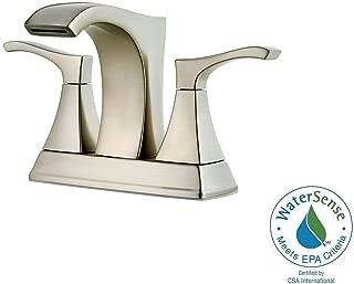 Pfister Venturi 4 in. Centerset 2-Handle Bathroom Faucet in Brushed Nickel