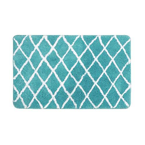 GjbCDWGLA badmat geometrisch motief, mintgroen, badmat absorberend, zacht, antislip, wasbaar, badmat 45 x 65 cm