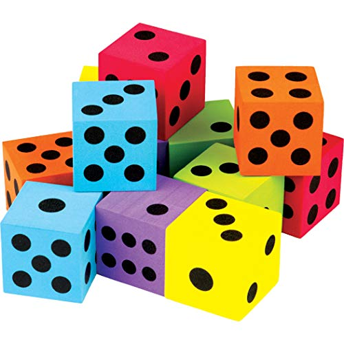 Teacher Created Resources Colorful Large Dice 12-Pack - 20809