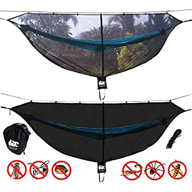 Chill Gorilla Defender 11' Hammock Bug Net Stops Mosquitos, No See Ums & Repels Insects. Compact, Lightweight. Camp Accessories. Fast Easy Setup. Size 132  x 51