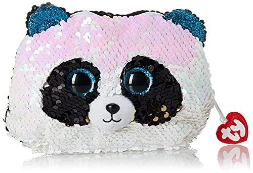 Borsetta accessorio peluche con paillettes, 12 cm, Bamboo Le Panda