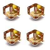 Tulead Metal Leveling Feet Heavy Duty Adjustable Furniture Leg Pack of 4 for Cabinet,Drawer,Bookcase