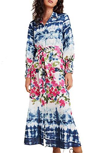 LikeJump Bohemia Vestido de Playa Cardigan Maxi Kaftan Kimono Pareos Cover Ups para Mujer