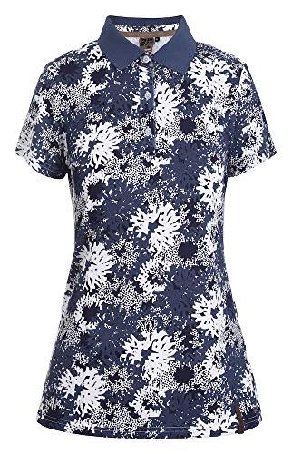 Icepeak Damen Polo Shirt EP Amberg, blau, M, 554661503I