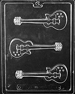 Grandmama's Goodies J110 Electric Guitar Chocolate Candy Soap Mold with Exclusive Molding Instructions