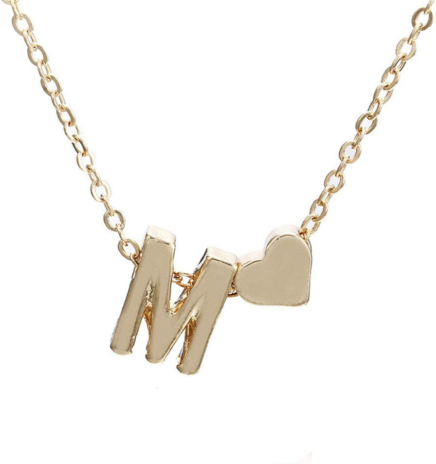 YOMXL Fashion Women Cute Heart Pendant Choker Lady Letter Factory outlet 2021 spring and summer new Chain