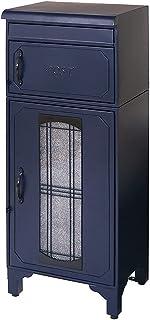 ヤマソロ ポスト 郵便受け 郵便ポスト 宅配ボックス スタンドポスト 置き型ポスト 大容量 エルディ ブルー 73-840