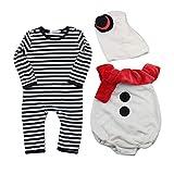 H.eternal(TM) Conjunto de disfraz para recién nacido, para bebés y niños, diseño de rayas, con gorro y gorro para otoño e invierno