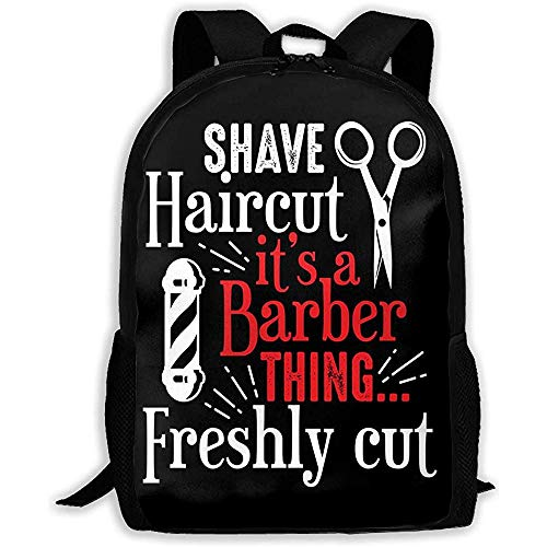 Lmtt Mochila Barber Shop Cita y Decir Shave Haircut It