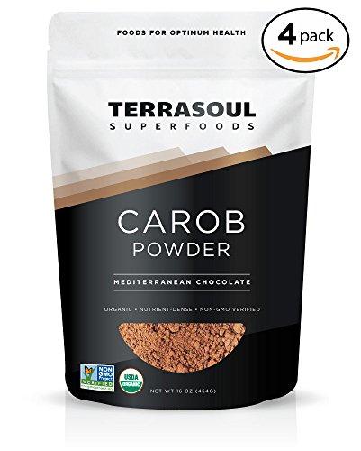 Terrasoul Superfoods Organic Carob Powder, 4 Pounds