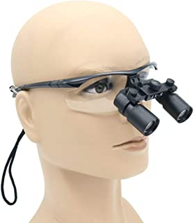 HyaPen Medical Dental Surgical Loupes, 4X High Magnifying Goggles Frame Binocular Glasses 360-420mm Working Distance for Brain Cardiac Surgery