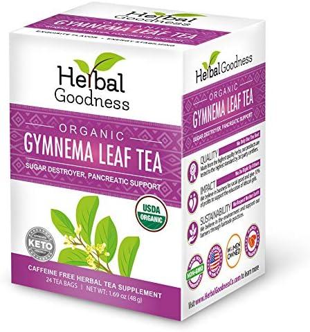 Gymnema Leaf Tea 100 Organic Natural Sugar Regulator Reduce Sweet Cravings Caffeine Free Keto product image