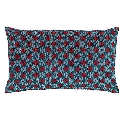 Vivaraise - Coussin - Coussin décoration - Coussin décoratif – Coussin rectangulaire - Coussin canapé - Coussin intérieur - Coussin Multifonctions - 30 x 50 - Agate Bleu - Rosetta