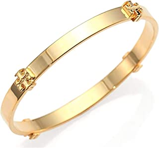Tory Burch Logo Bangle Bracelet Gold, 2 1/2