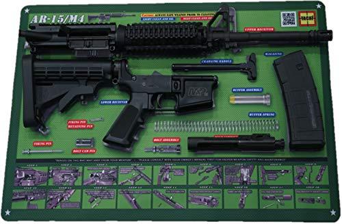 Tactical Atlas Gun Cleaning Mats (OD Green AR-15)