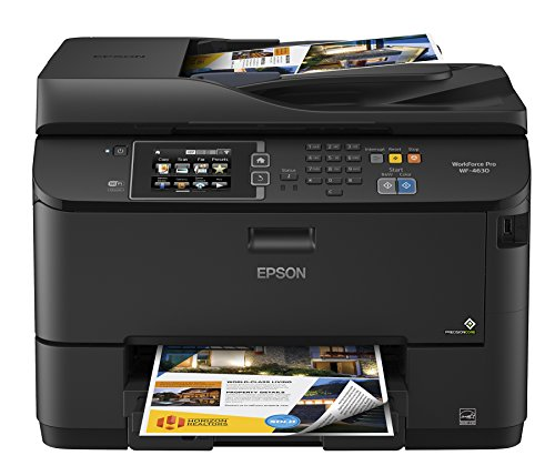 Epson Workforce Pro WF-4630 Wireless Color All-in-One Inkjet Printer with Scanner and Copier, Amazon Dash Replenishment Ready