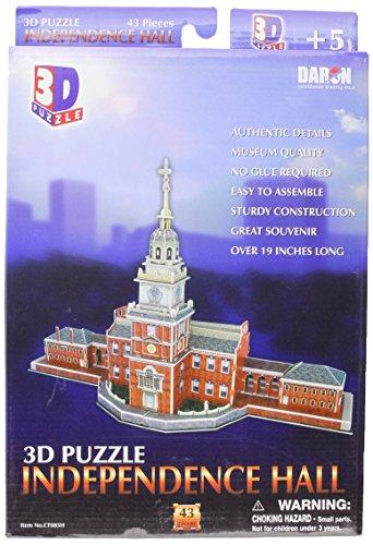 DARON 독립 홀 필라델피아 3D 퍼즐 43-PIECE
