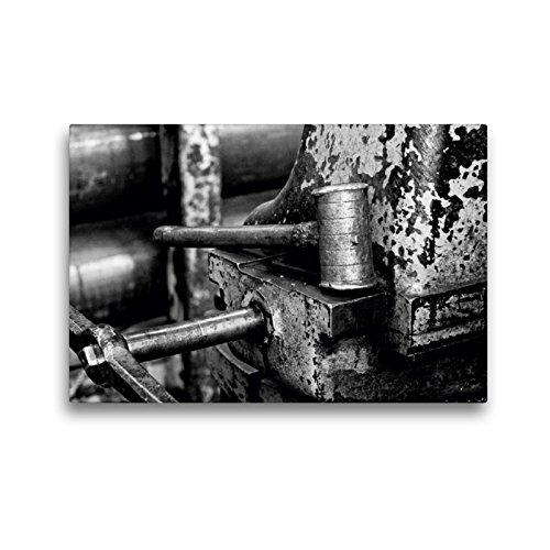 CALVENDO Premium Textil-Leinwand 45 x 30 cm Quer-Format Eisenhammer an der Drehbank, Leinwanddruck von Gerhard Bomhoff