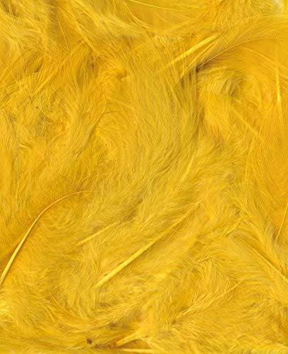 Artémio - Plumas Decorativas (Bolsa de 3 g, de 8 a 12 cm), Color Amarillo