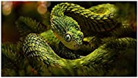 大人のパズルジグソー500ピース恐ろしい緑のヘビファミリーコレクションアートワーク