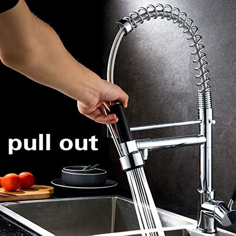 Ganjue Chrome Pull Out Küchenarmatur Dual Auslauf Spüle Barass Made Küchenmischbatterie Warm Kalt 2 Outlet Frühlingshhne
