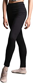 DANCEYOU Ballet Dance Leggings Stretchy Footless Gym Yoga Workout Active Pants for Girls Women