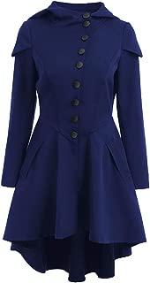 Hooded Peplum Mimi Dress Womne Layered Lace Up Long Sleeve Party Coat Dress