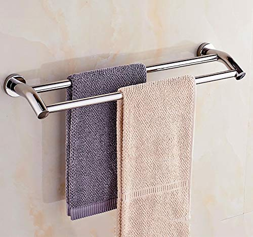 TINE 1/2 Etagen Handtuchhalter Badzubehör aus Edelstahl zur Wandmontage Badetuchhalter Toilettenpapierhalter Handtuchhaken Badezimmer Duschregal Für Küche Waschraum,2tier,50cm