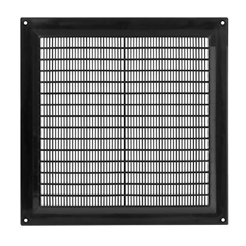 20 x 20 cm in plastica nera per bocchette, copertura per condotti di ventilazione HVAC, tappo di sfiato - dimensioni esterne: 20,6 x 20,6 cm