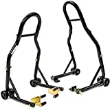 Venom Sport Bike Motorcycle Front Fork & Rear Paddle Combo Wheel Lift Stands Paddock Stands...