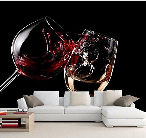 Yosot Benutzerdefinierte Hintergrundbilder Für Wände 3D Getränke Wein Stemware Essen Tapeten Esszimmer Sofa Tv Wand Schlafzimmer Küche Restaurant Tapeten-140Cmx100Cm