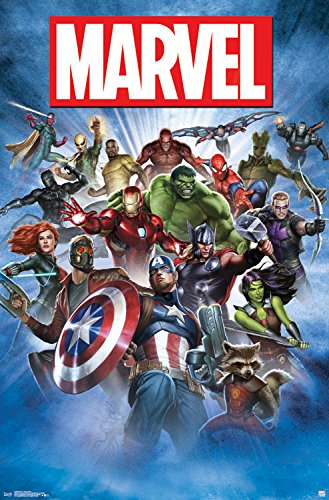 "Trends International Marvel Group Shot Wall Poster 22.375"" X 34"""